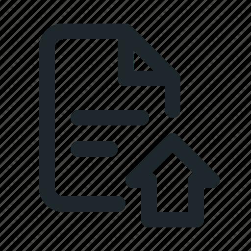 file, home icon