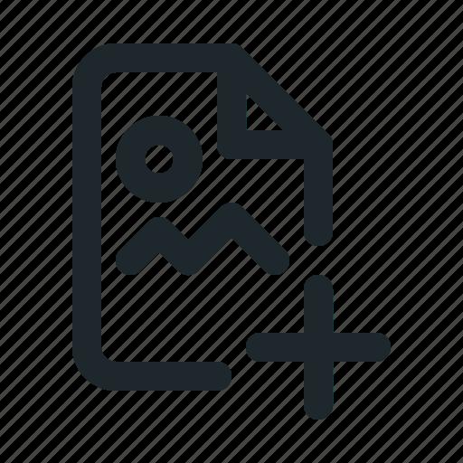 add, file, image icon