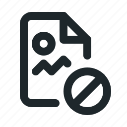 blocked, file, image icon
