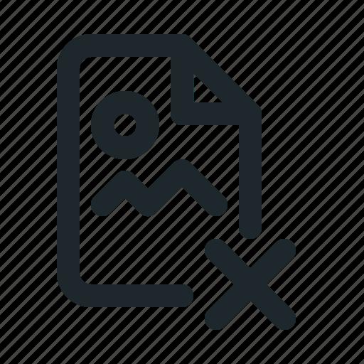delete, file, image icon