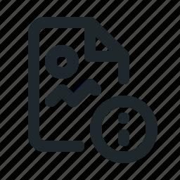 file, image, info icon