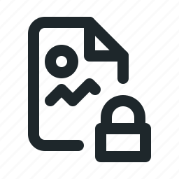 file, image, locked icon