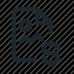 file, image, money icon