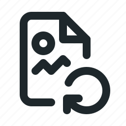 file, image, reload icon
