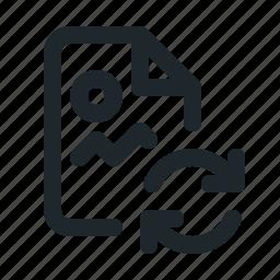 file, image, sync icon
