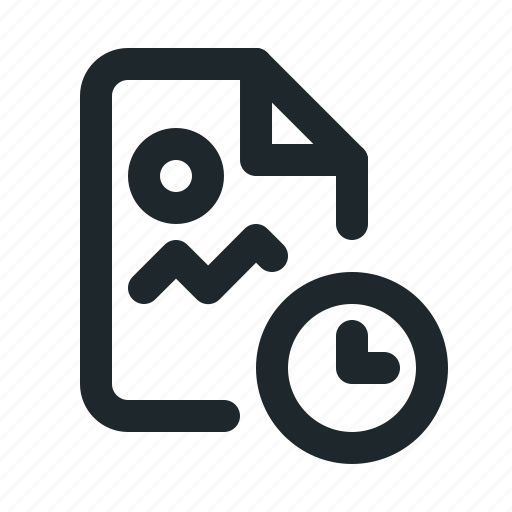 file, image, time icon