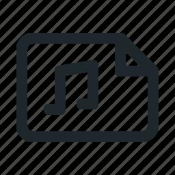 audio, file, landscape icon