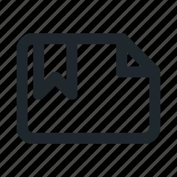 bookmark, file, landscape icon