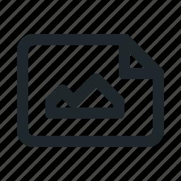 file, image, landscape icon
