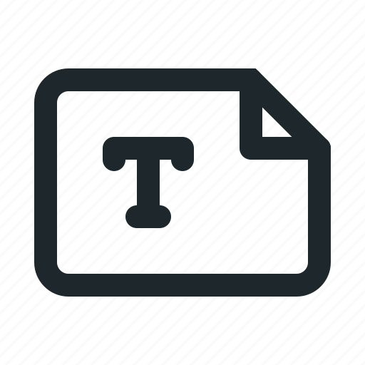 file, landscape, text icon