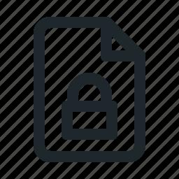 file, locked icon