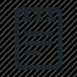 file, note icon