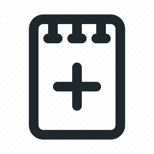 add, file, note icon