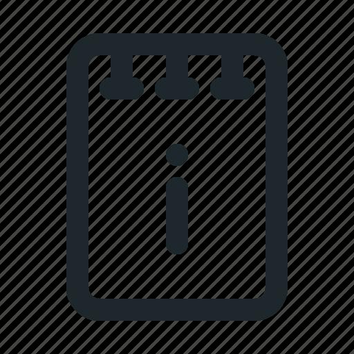 file, info, note icon