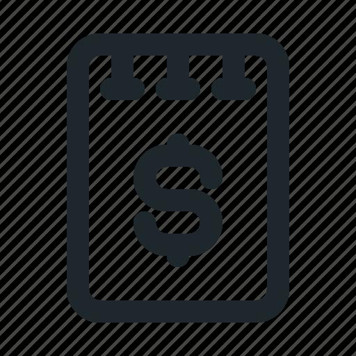 file, money, note icon