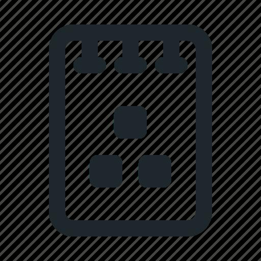 file, note, organization icon