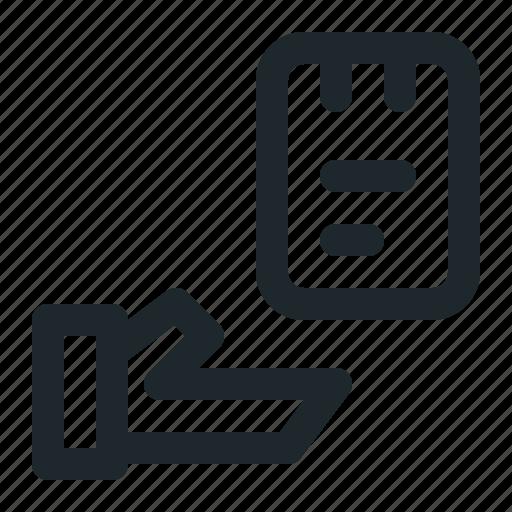 file, note, transfer icon
