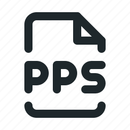 file, office, pps icon
