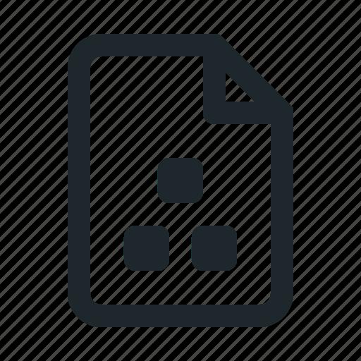 file, organization icon