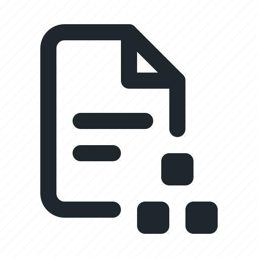 file, organization icon