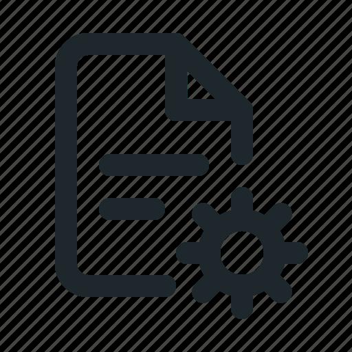 file, setting icon