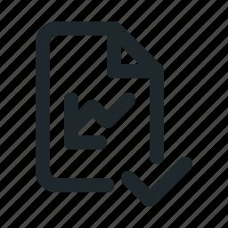 accept, file, statistic icon