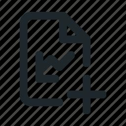 add, file, statistic icon