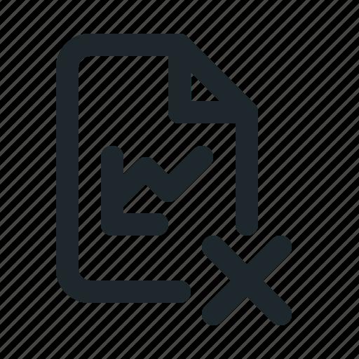 delete, file, statistic icon