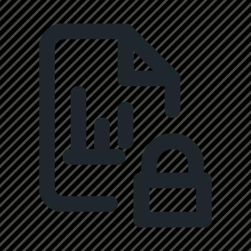 file, locked, statistic icon