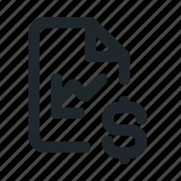 file, money, statistic icon