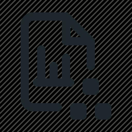file, organization, statistic icon