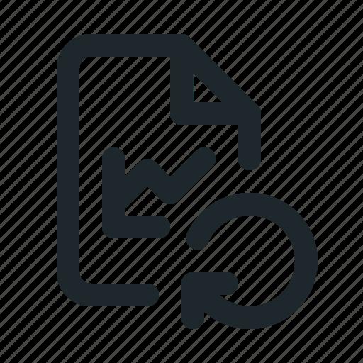 file, reload, statistic icon