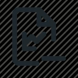 file, remove, statistic icon