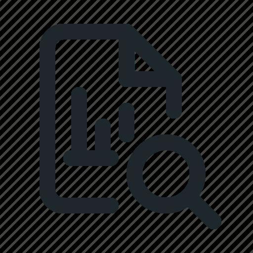file, search, statistic icon