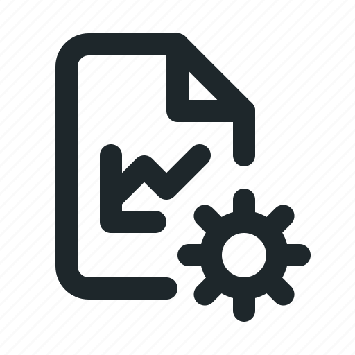 file, setting, statistic icon