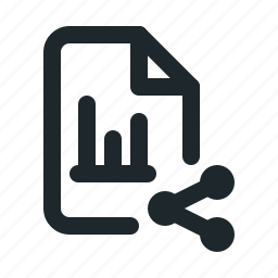 file, share, statistic icon
