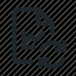 file, statistic, sync icon