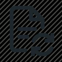 file, sync icon