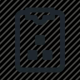 file, organization, task icon