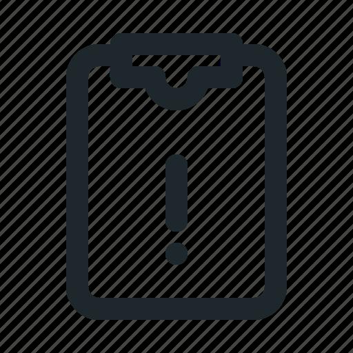 file, task, warning icon