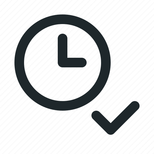 accept, file, time icon