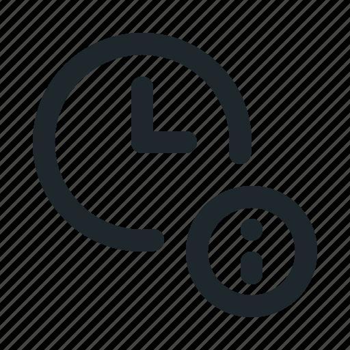 file, info, time icon