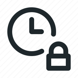file, locked, time icon