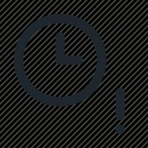 file, time, warning icon