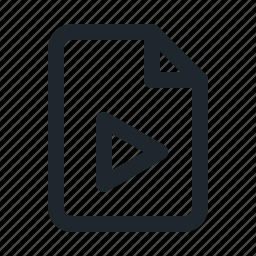 file, video icon