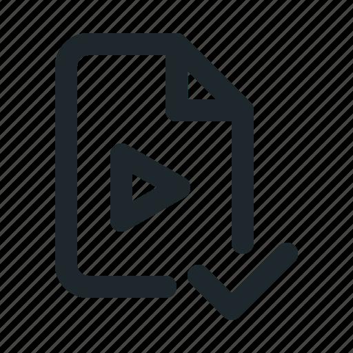 accept, file, video icon