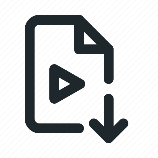 download, file, video icon