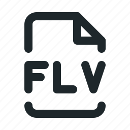 file, flv, video icon