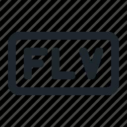 file, flv, video icon