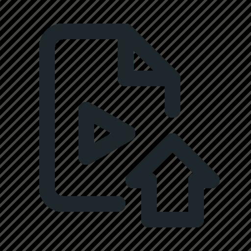 file, home, video icon